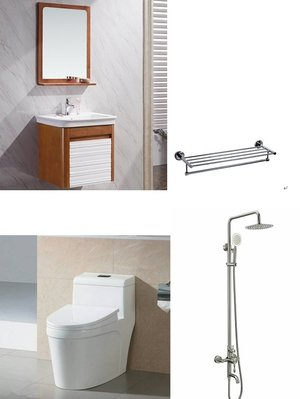 FUO衛浴: 60公分橡木浴櫃套組特價出售(8112+2553+823+a56)