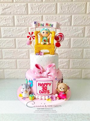【Connie's Home Sweets】龍椅主題滿月立體蛋糕 百日宴蛋糕 生日蛋糕 Full Moon 100 Days Cake可訂造主題蛋糕 公仔可保留