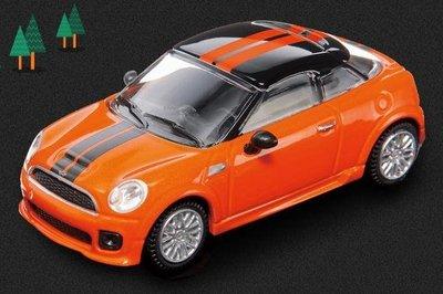 7-11 CITY CAFE集點送 - MINI組裝模型玩具車(1:60) MINI COUPE JCW橘紅色小跑車
