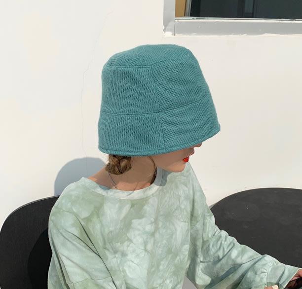 SEYES  個性韓系歐美設計感百搭小臉針織漁夫帽