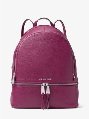 Michael Kors Rhea Large Leather Backpack 荔枝皮雙肩背包