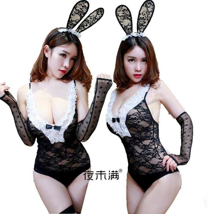 99巷 開襠蕾絲兔女郎情趣內衣 連體女王夜店表演制服誘惑兔子裝