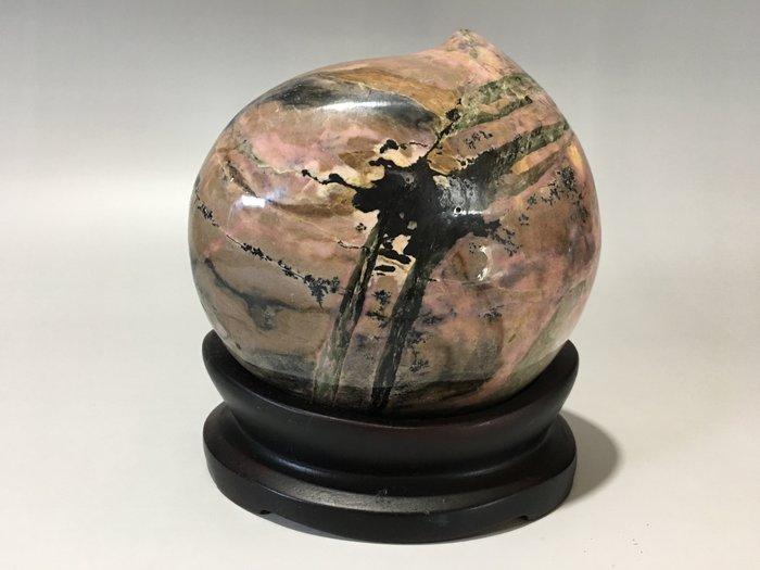 早期收藏-原礦雅石-花東玫瑰石-仙桃-2.2kg