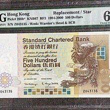 1999年渣打銀行 伍佰元補版