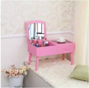 梳妝台 飄窗梳妝台小戶型梳妝台簡易翻蓋化妝桌台式歐式紅台梳妝網sys