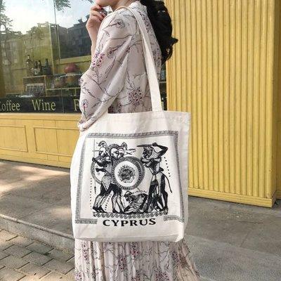希臘語復古帆布袋 Cyprus 塞浦路斯