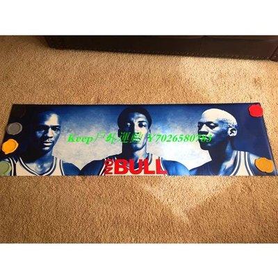 Keep戶外運動 1996年公牛隊鐵三角NO BULL原版巨幅海報喬丹AJ jordan皮蓬羅德曼