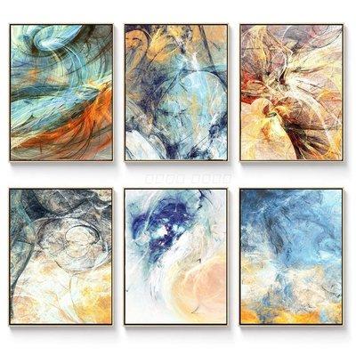 三幅一組油畫布 北歐幻彩斑斕抽象 畫芯/畫布/30X40☺暖暖屋☺傢居藝術館