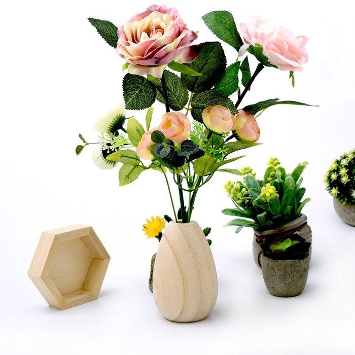 聚吉小屋 #創意實木花瓶展示架 干花收納飾品擺件 假花瓶櫥窗陳列展示道具
