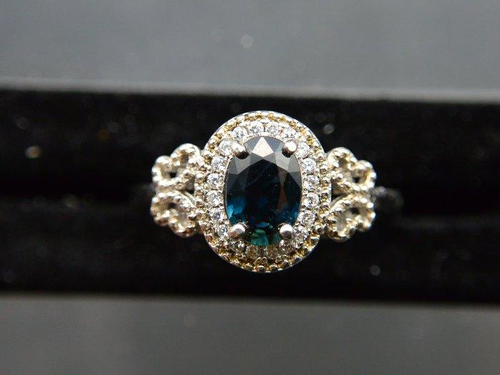 天然藍寶石Sapphire  豪華蝴蝶結 橢圓形款戒 戒子 戒指 #11