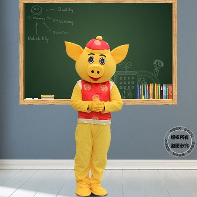 歡樂豬卡通人偶服裝日本豬人穿行走廣告宣傳促銷活動道具財神爺