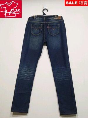 專櫃品牌 Levis 牛仔褲 男友褲 錐形 直筒-女款-水洗藍-27腰【JK嚴選】皇后的品格