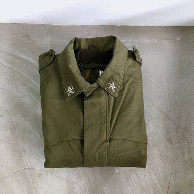義大利公發 Italian Army Field Coat liner 兩件式可拆內裡 防寒野戰長版外套 大衣 義大利製