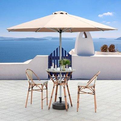 戶外遮陽傘庭院羅馬傘3米中柱傘室外花園傘螺桿傘大型擺攤太陽傘CY