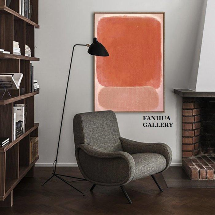 C - R - A - Z - Y - T - O - W - N Mark Rothko馬克羅斯科表現主義粉紅抽象藝術裝飾畫世界名畫客餐廳巨幅掛畫設計師款掛畫