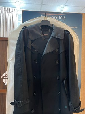 COACH 經典風衣外套 黑 全新