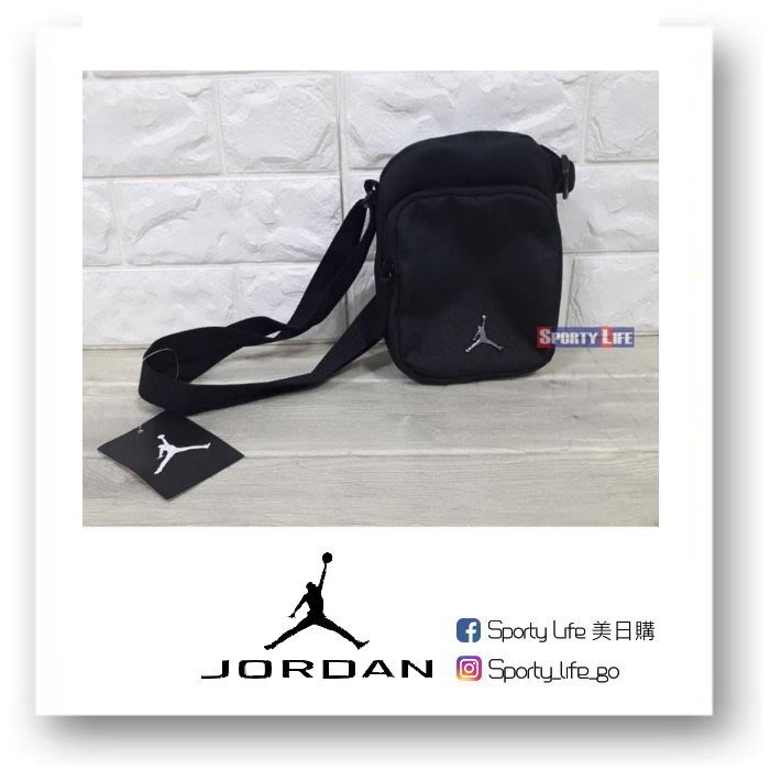 【SL美日購】JORDAN FESTIVAL CROSSBODY BAG 黑色 側背包 腰包 包包 喬丹 美國代購