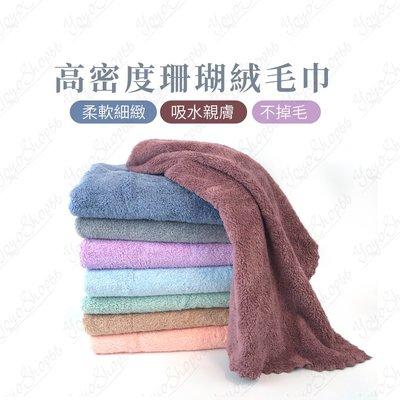 #879 高密度珊瑚絨毛巾 多功能素色擦臉巾 珊瑚絨毛巾 柔軟 吸水 不掉毛 親膚舒適 萬用 【蓓思shop】