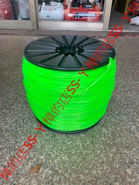 =SS-ㄚ樟的店= 附發票* (綠) 牛筋繩1大卷-20公斤重-台灣製-五角形3.7mm