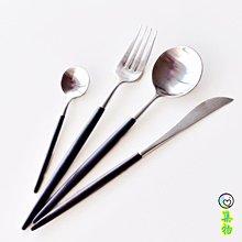 (免運)INS超火LEON系列西餐餐具刀叉勺氣質餐具18/10不銹鋼歐式牛排刀叉