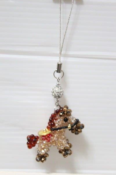 天使熊小鋪~精緻手製馬上有錢手機吊飾 Iphone 5S M8掛飾 手提包掛飾 水晶吊飾~原價890
