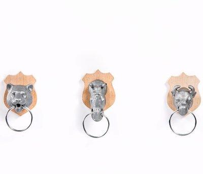 SUCK UK 創意動物頭鑰匙架與鑰匙扣Animal Head Key Holder