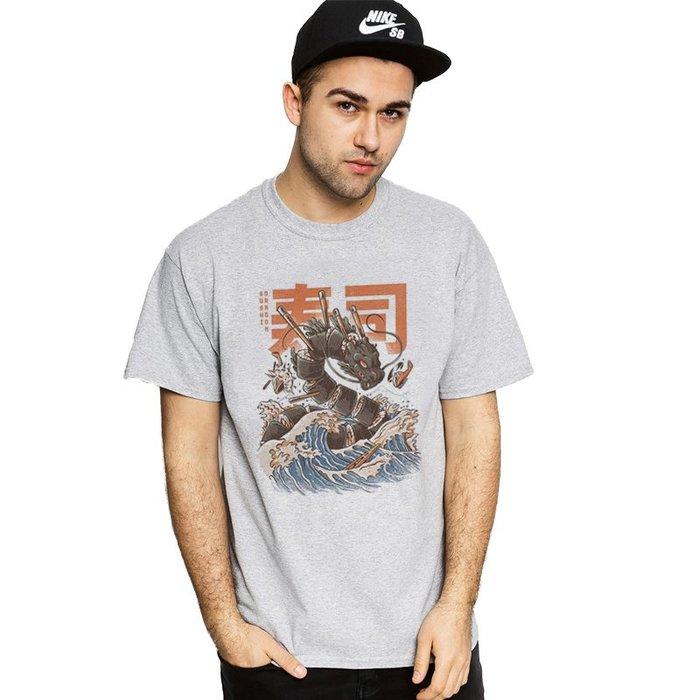 Sushi Dragon Wave 短袖T恤 2色 GODZILLA 浮世繪日本海浪海嘯藝妓武士壽司龍東京【快速出貨】