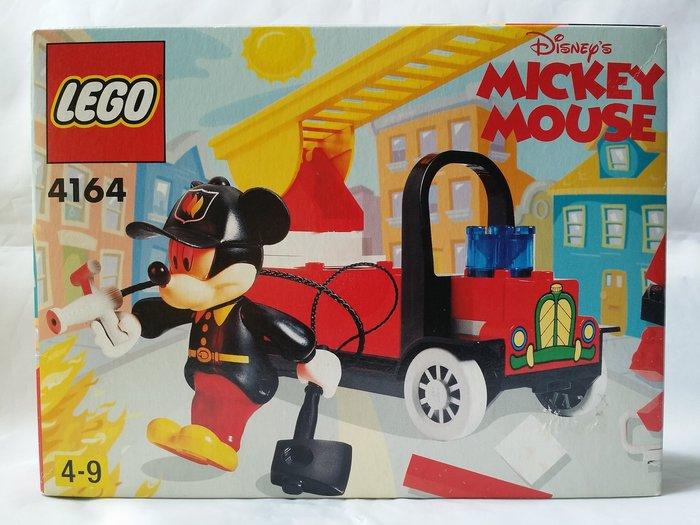 2000年絕版品【LEGO 樂高】全新正品 益智玩具 積木/ 迪士尼DISNEY米奇消防車 Mickey 4164
