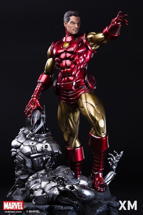 【預購】GK定制,漫威漫畫版鋼鐵人 手辦,托尼斯塔克雕像,鋼鐵人GK模型