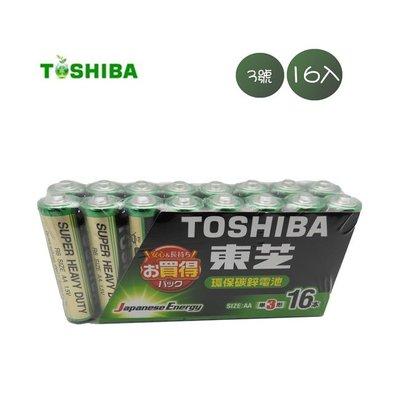 TOSHIBA東芝 環保碳鋅電池3.4號16入
