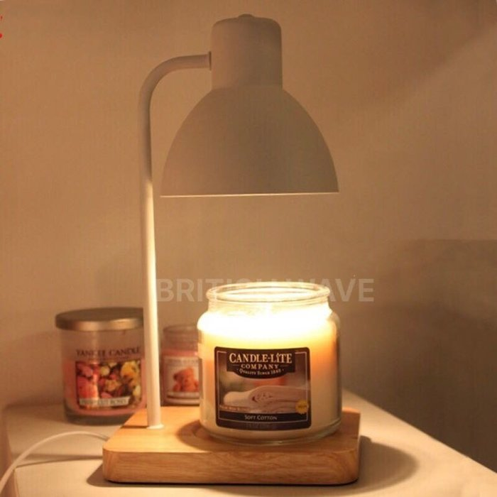 純白簡潔實木底座 香氛蠟燭暖燈/融燭燈/香薰燈 代購 免變壓+燈泡*2 diptyque jo malone