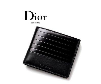 Dior HOMME ► ( 黑色) 真皮兩摺短夾 錢包 皮夾 中性款|100%全新正品| 特價!