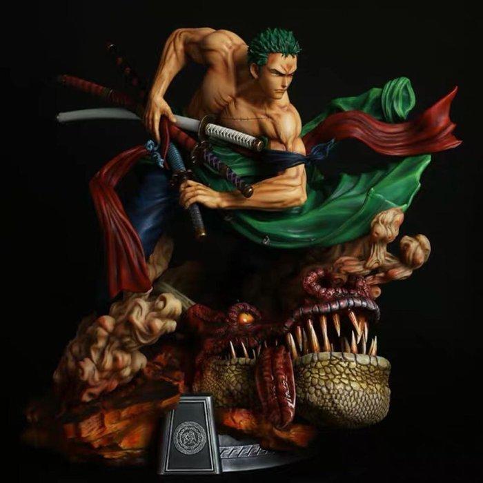 【預購】GK定制 ls 索隆的獅子歌歌 一刀流索隆,海賊王 手辦模型雕像