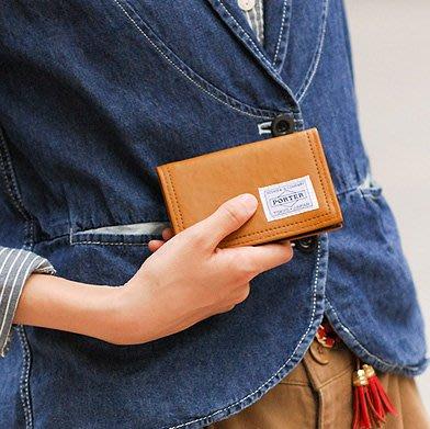 momo日本製PORTER TOKYO JAPAN仿皮名片套Camel business card case名片夾八達通卡片套咭片套holder新年聖誕禮物