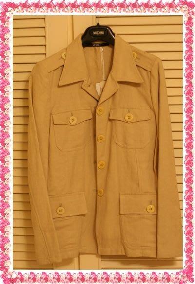 歐碼40全新Sogo專櫃購買真品《法國品牌Et vous》米白色瓊麻非洲狩獵風西裝上衣(原價$14300)