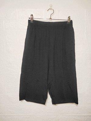 589大尺碼黑色超彈性絲光棉短褲