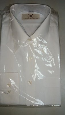 LATITUDE AND LONGITUDE白長襯衫 領圍16*33 15.5*33 15.5*34 短襯衫16 17