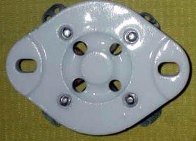 鍍銀 大4腳 真空管腳座 4 pin tube socket(300B 2A3 5Z3 274A)