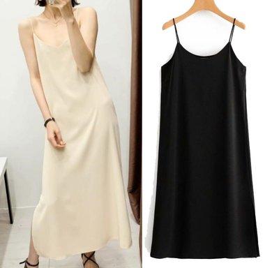 洋裝 歐美新款春季垂性吊帶連身裙D3-...