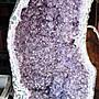 需自取 可議價 巴西天然紫水晶洞 含木座(淨重69.8公斤) 高97×寛44×厚34×洞深12.5(公分)