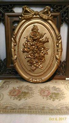 居家艺术,貨號D-25-0 size 32*48*3.5cm巴洛克 歐式 PU 立體 蝴蝶結 玫瑰浮雕壁飾 廚櫃裝飾
