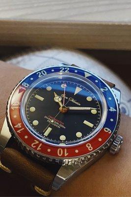 San Martin Diver Cola bezel GMT watch  SN005G 復古可樂圈GMT機械錶 潛水
