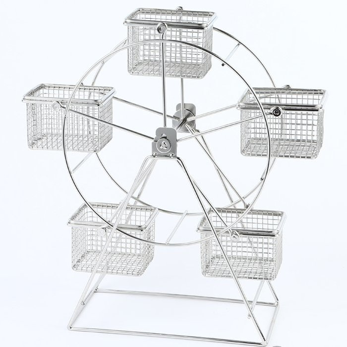 【無敵餐具】摩天輪蛋糕架-不銹鋼(含5格籃) 蛋糕點心架/調理盆架/沙拉吧/飯店/量多歡迎詢價【HC2-01】
