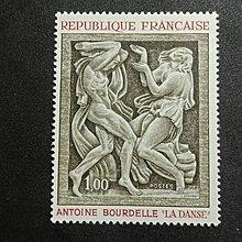 【亂世奇蹟】1968年法國藝術 名畫郵票__600