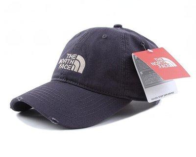 現貨最便宜!The North Face 新款附吊牌  北臉 復古 老帽 帽子 小破壞 古著水洗感 穿搭 必配