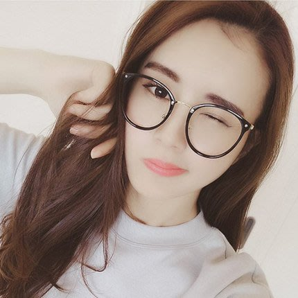 眼鏡框女正韓復古圓形平光鏡潮眼睛框鏡架眼鏡女