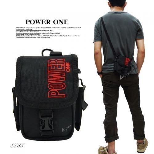 加賀皮件  POWERONE 直式 簡約 上蓋式 腰掛包 8784