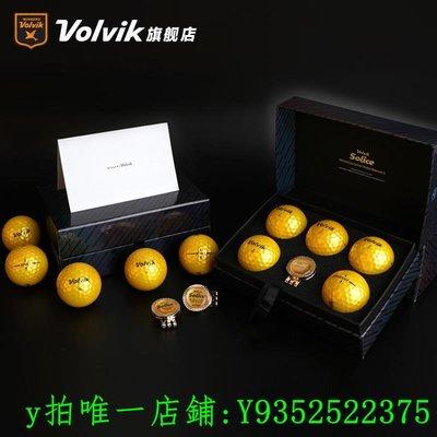 高爾夫Volvik沃維克SOLICE高爾夫彩球珠光面三層球黃金禮盒禮品用品MARK運動