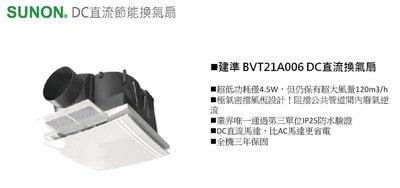 ※浴室抽風機專賣※建準 SUNON DC直流變頻換氣扇  浴室抽風機 全電壓 BVT21A006 兩台