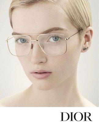 ◇ ◇ 強尼好物 ◇ ◇ Dior eyewear 明星款 雙槓金框光學造型眼鏡 ☆現貨☆